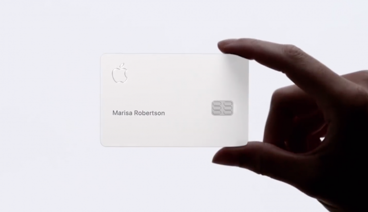 apple card with hand
