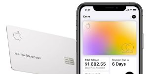apple security card with mobile device