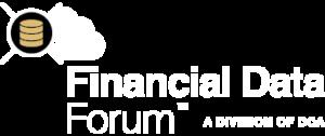 financial data forum logo white