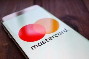 mastercard logo on mobile device screen