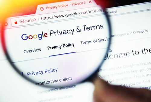 Google Privacy and Terms Magnifying Glass