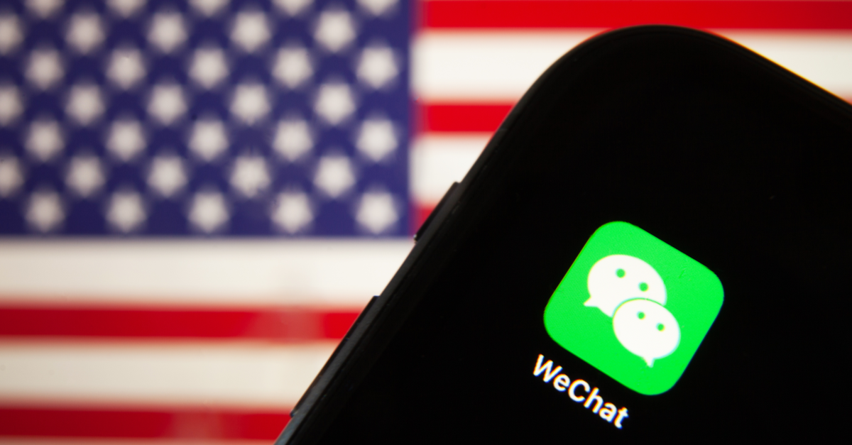 WeChat And American Flag
