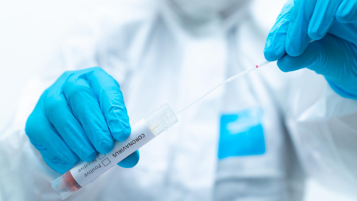Coronavirus in lab test