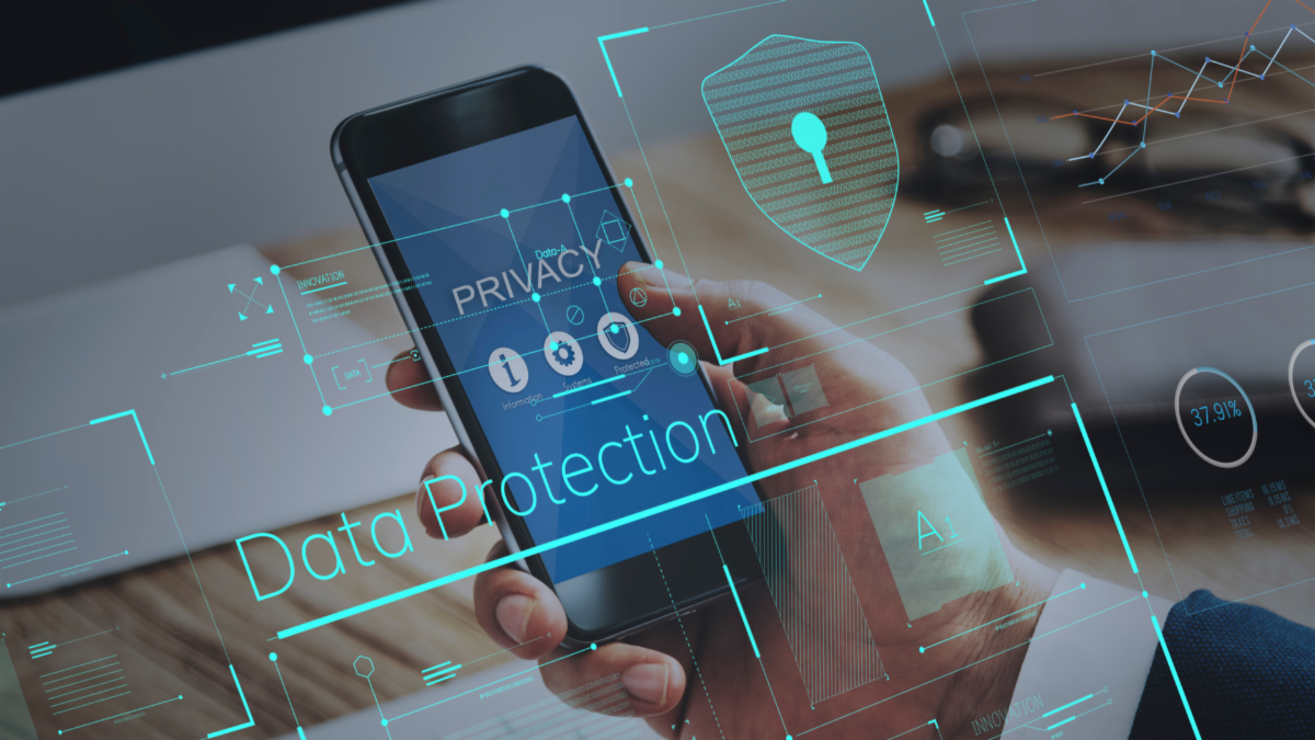 Data Protection stock image
